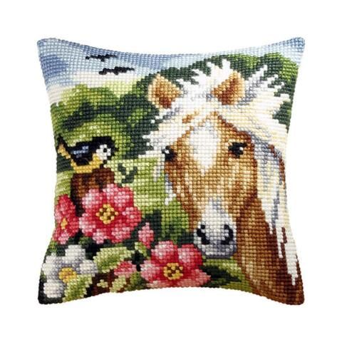 Friends of the Field Pillow Needlepoint Kit - Herrschners
