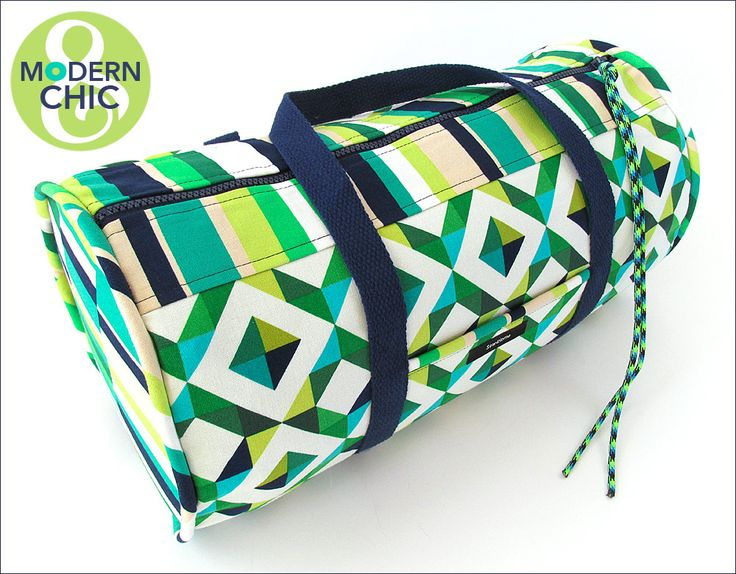 Compact Geo Pop Duffle with Rip Stop Lining | Sew4Home