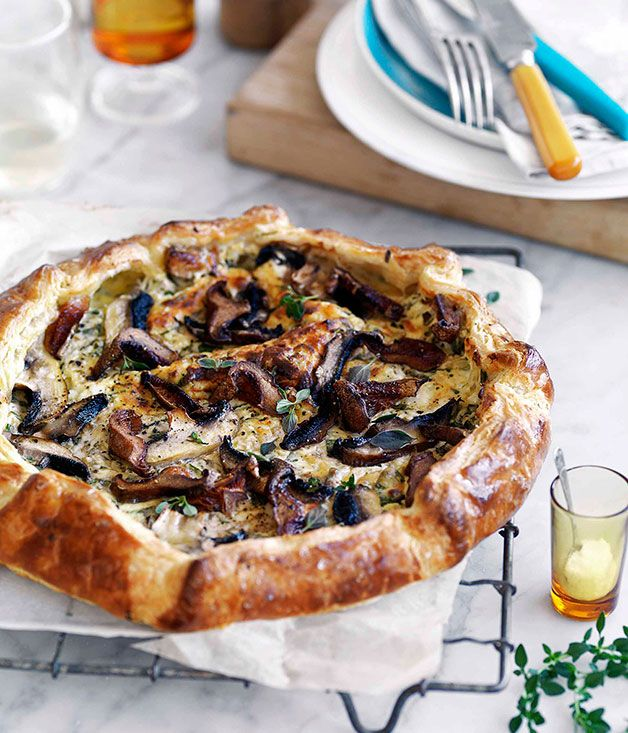 Mushroom and ricotta galette recipe | Gourmet Traveller recipe - Gourmet Traveller