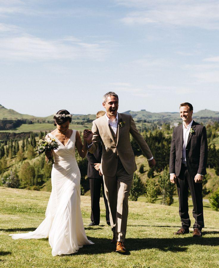 Lian & Randy a happy couple on their wedding day. The beautiful bride wears a dress by #Cortana #realbrides #WeddingDresses #Wedding #BridalFashion