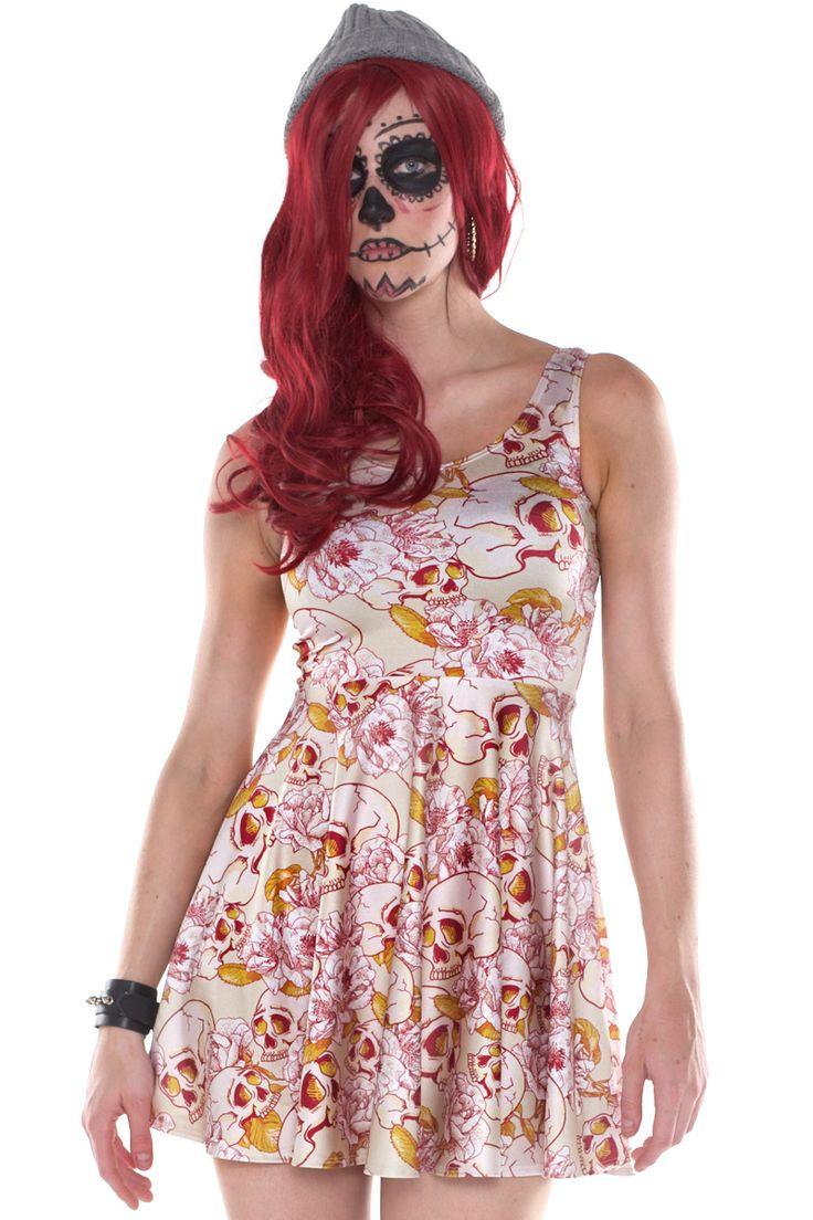 Skull Flower Skater $79 AUD