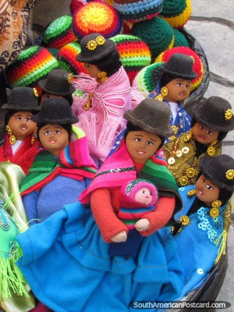 Colorful dolls of Bolivian hat ladies for sale in La Paz. Photo: Mark Berman