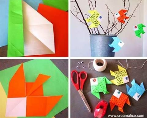 ☼ ✄ DIY Poissons d'Avril Origami / Origami April Fools Fish ✄ ☼ http://www.creamalice.com/Coin_conseils/1-loisirs_creatifs_2012/3-Tuto_Poissons_d_Avril_Origami/Tuto_DIY_Poissons_d_Avril_Origami.htm