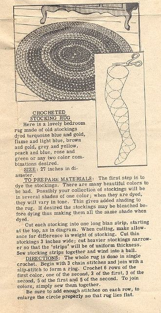 Pantyhose craft rug