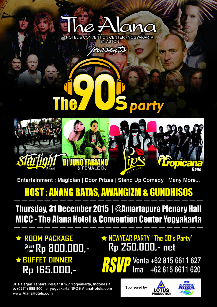 "New Year Party "" The 90's Party "" at The Alana Yogyakarta"
