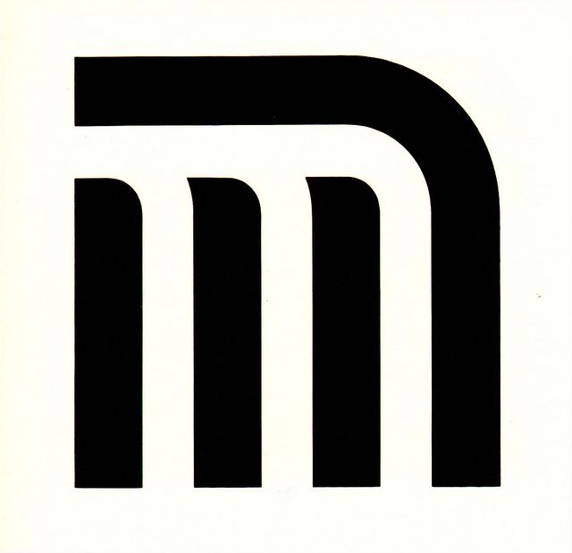 Symbol for the Metro of Mexico City, designer Lance Wyman. From Graphis Annual 69/70