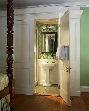 Hidden ensuite behind wardrobe ensuite ideas pinterest for Hidden bathroom pics