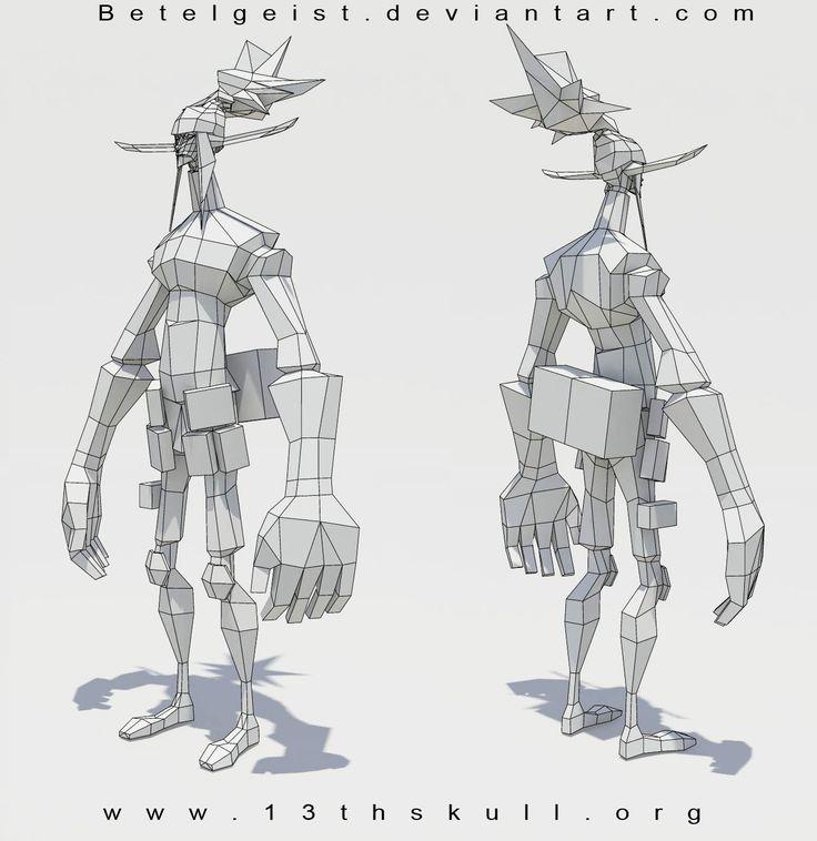 3D elf WIP final wifreframe by Beezul on deviantART