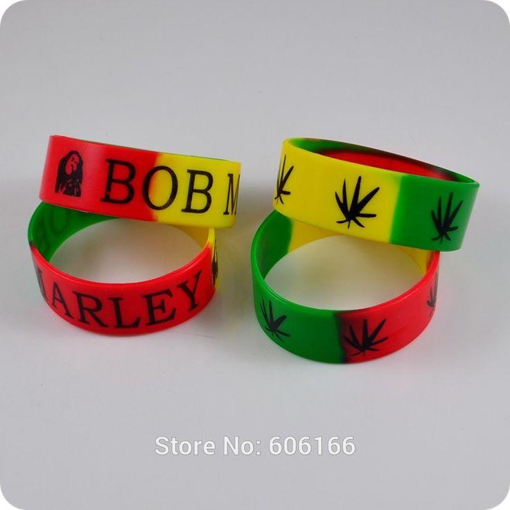 2x BOB MARLEY Jamaica Rasta Silicone Bracelet