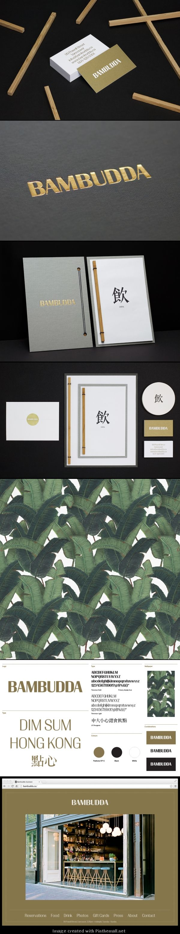 Post Projects – Identity for Bambudda, a modern Chinese cuisine restaurant in Vancouver