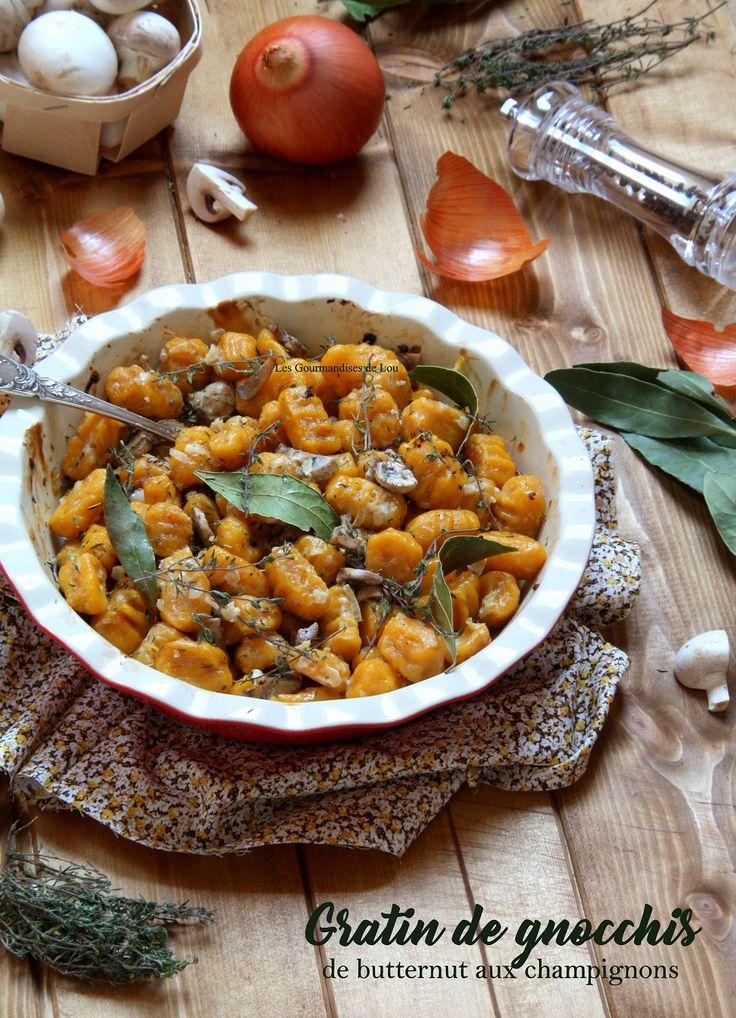 Et si vous cuisiniez les gnocchis en gratin ? Accompagnés de champignons, oignon et laurier, les gnocchis de butternut révèlent tout leur parfum !