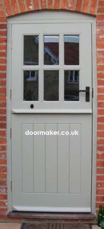 painted stable door, perfect for utility onto garden