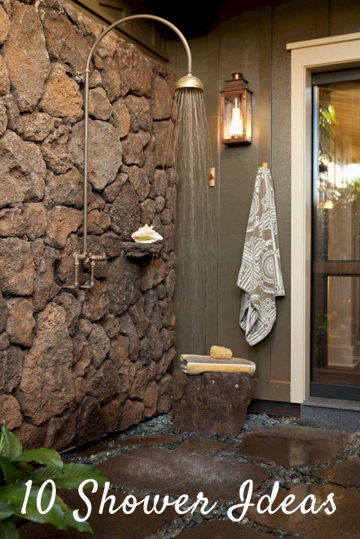 Bathroom Shower Design Better Homes Outdoor Bathroom Design Outdoor Bathrooms Natural Stone Wall