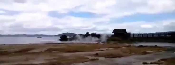 Another hydrothermal eruption in Lake Rotorua, New Zealand