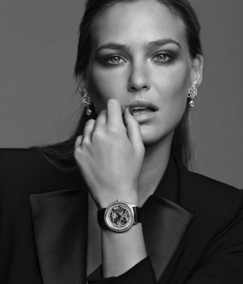 Bar Refaeli Models Piaget High Jewelry Watches