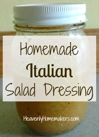 Italian Dressing Mix  1 1/2 teaspoon garlic powder 1 Tablespoon onion powder 2 teaspoon oregano 1 Tablespoon dried parsley 2 teaspoons sea salt 1 teaspoon pepper 1/4 teaspoon thyme 1/2 teaspoon dried celery flakes  Shake ingredients together and store in a jar.