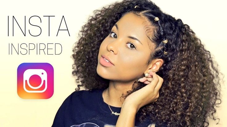 Curly Styles For Natural Hair: IG BADDIE CURLY HAIRSTYLE