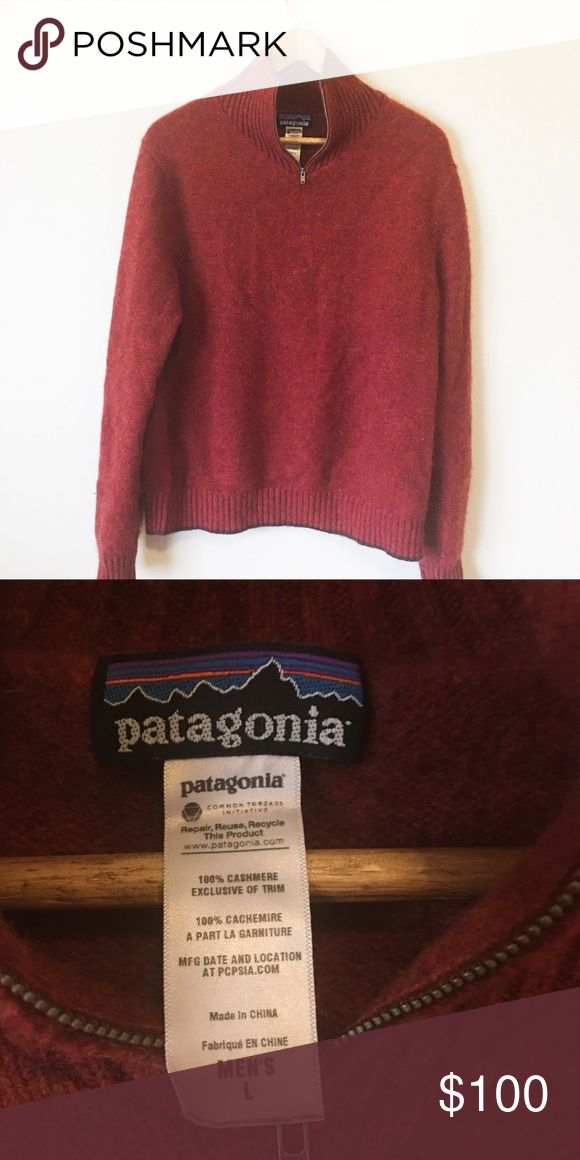befc355f Patagonia Recycled Cashmere 1/4 Zip Sweater Super soft Recycled Cashmere  collection sweater from Patagonia. Fits a men's size L. Excel…