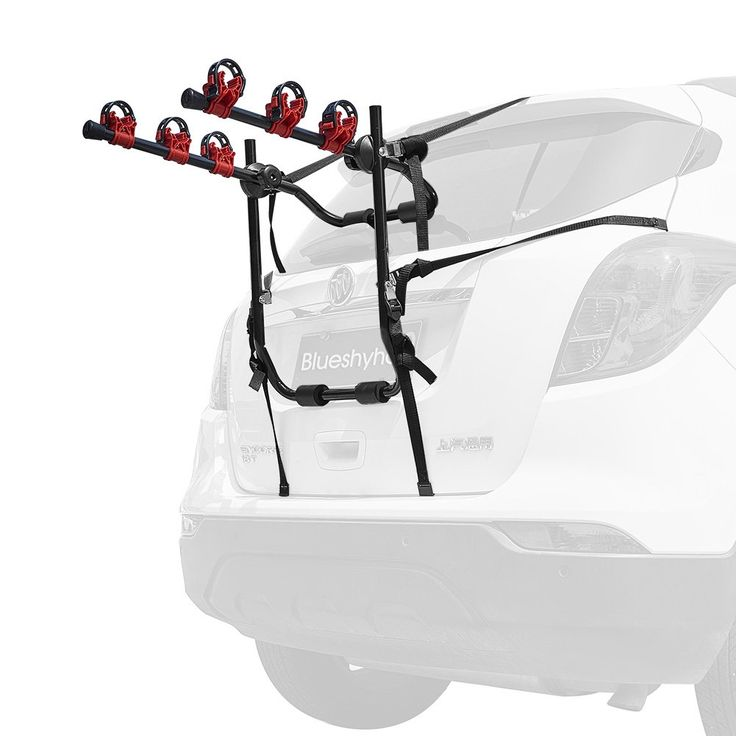 Blueshyhall Bike Carrier Trunk Mount Bike Rack For Suv Car Heavy Duty 3 Bike Carrier Mount. Fits most Sedans/Hatchbacks/Minivans and SUV's. Individual soft cradles made to protect your bike frame and secure your bikes. Foldable carry arms when not in use. Reflective red end caps offer increased visibility and safety. Its fold-away design allows for rear vehicle access, and it completely folds down for compact, convenient storage. Load bearing: 99 lb. Transports Up To 3 Bikes. Easy...