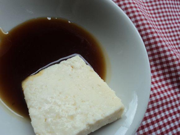 Melao con cuajada/ Sugar cane syrup and cheese