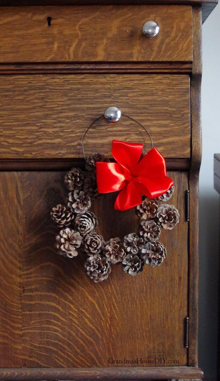Small Diy Pine Cone Wreath 12 Days Of Christmas Blog Hop