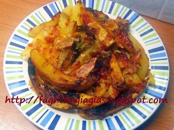 Πατάτες κοκκινιστές φούρνου με μπέικον - Τα φαγητά της γιαγιάς