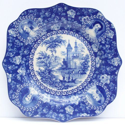 Victorian Toile Square Blue Dinner Plate Chintz . $21.00. Boxed for easy gift giving.  sc 1 st  Pinterest & 84 best Home u0026 Kitchen - Plates images on Pinterest | Kitchen dining ...