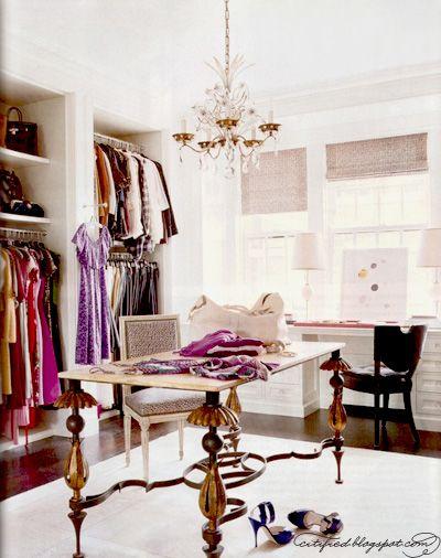 : Closet Offices, Closet Spaces, Idea, Elle Decor, Dreams Closet, Wardrobe, Desks, Dresses Rooms, Walks In