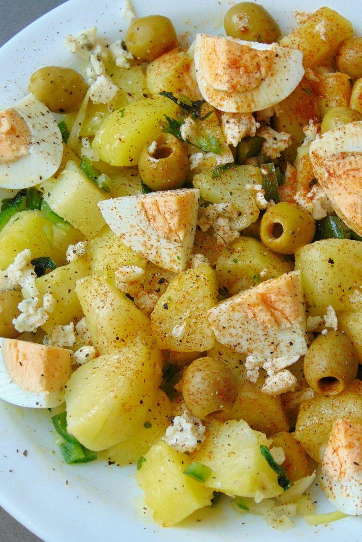 Ensalada de patata y huevo duro