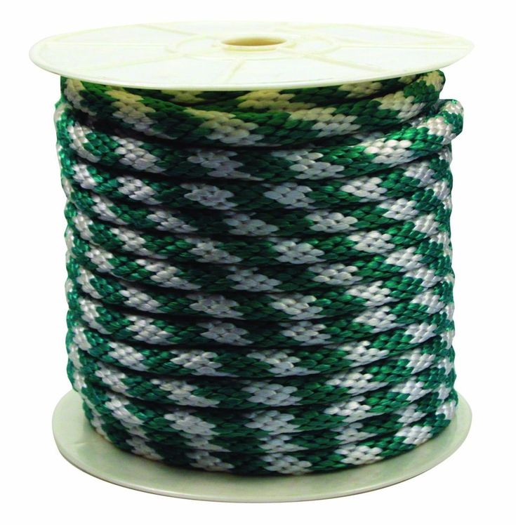 Soft Solid Braided Poly Rope - Green/White - 5/8 inch x 140 ft New #RopeKing