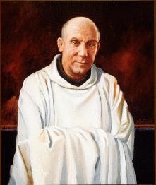 Thomas Merton, Trappist monk, spiritual theologian, social critic, poet, and important American literary figure.  Buried at Gethsemane.