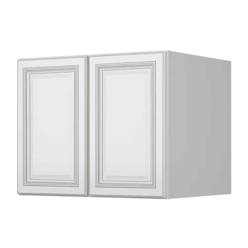 """Sunny Wood SLW3024-24-A Sanibel 30"""" x 24"""" Refrigerator Double Door Wall Cabinet, White"""