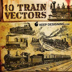 http://www.keepdesigning.com/vectors/10-train-vector-graphics/ baby boy room