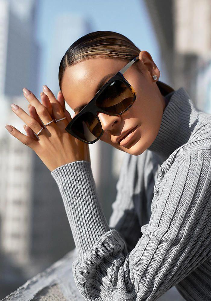 df848965c1bb2 Quay x Desi Perkins OTL II Sunglasses in Brown - Sunglasses - Accessories   fashiononlinesunglassas