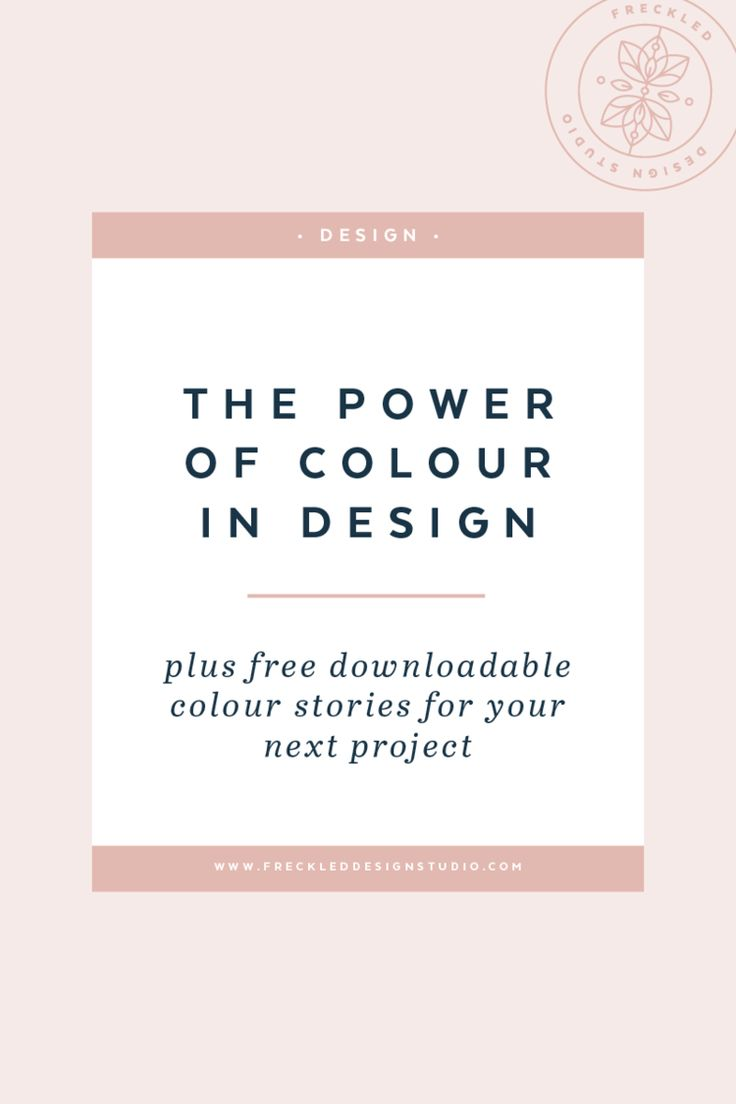 Utilising the power of colour in design as a marketing tool by Freckled Design Studio