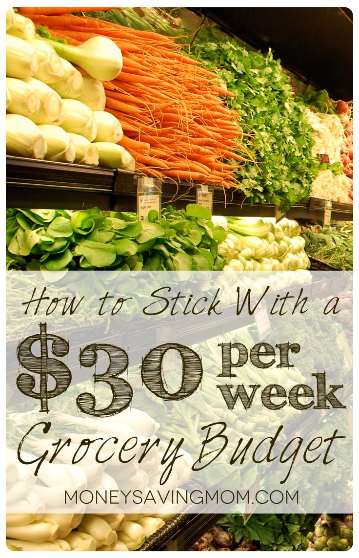 Think it's not possible to eat well for $30 per week? You've GOT to read this excellent post from MoneySavingMom.com. It has a complete week's worth of meals you can make for just $25 total!