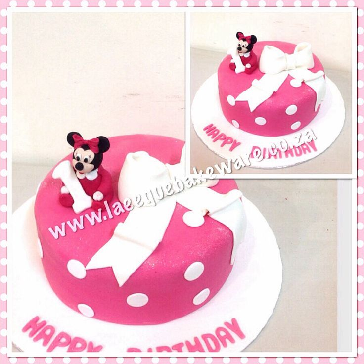 Baby mini mouse cake