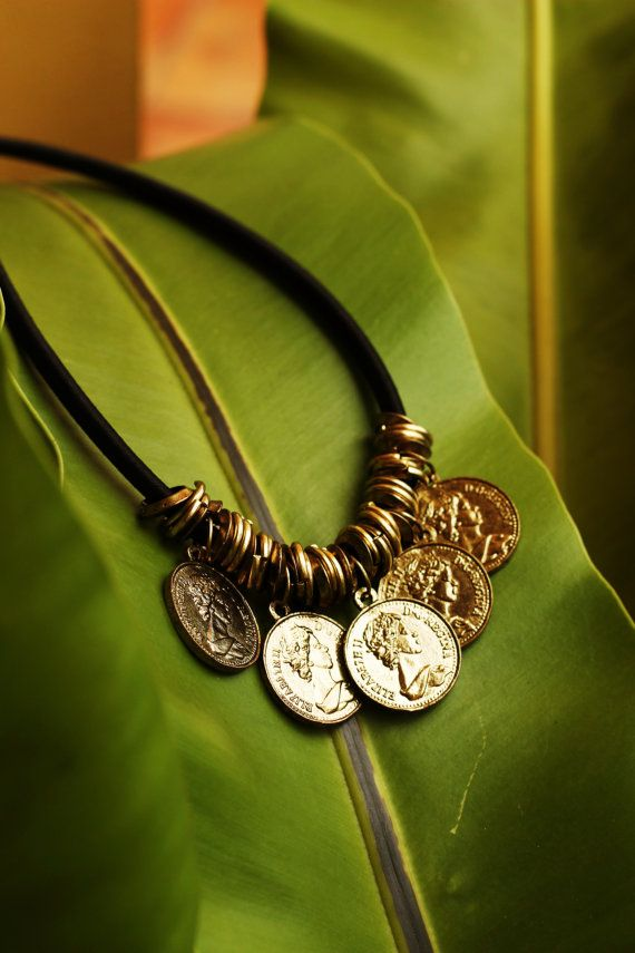 Kuchi Coin Bohemian Bib Statement Necklace