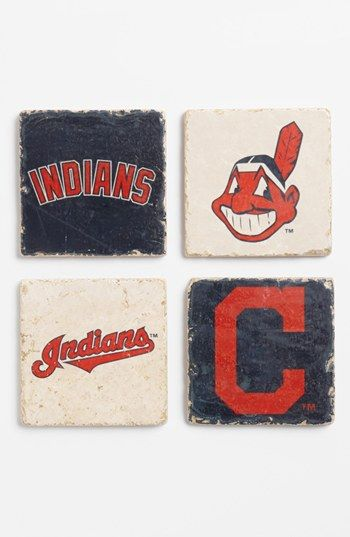 'Cleveland Indians' Marble Coasters (Set of 4) available at #Nordstrom