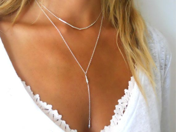 Simple Silver Necklace Delicate Sterling Silver by annikabella