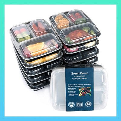 Go-To Kitchen Gadgets: Green Bento 3 Compartment Food Storage Containers