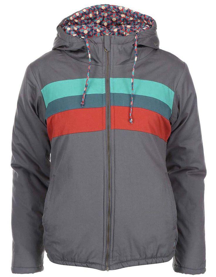 Jachetă cu dungi colorate Tranquillo Heidewitzka - gri - Tranquillo