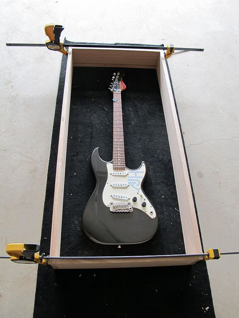 Building a display case for guitars
