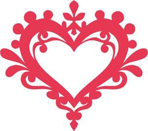 Silhouette Online Store - View Design #32562: ornate vintage heart frame