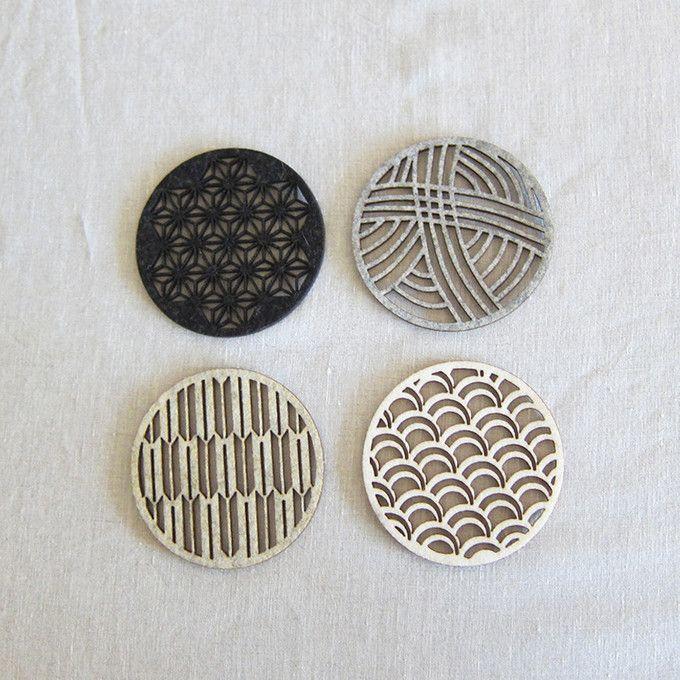 Beautiful laser-cut felt coasters