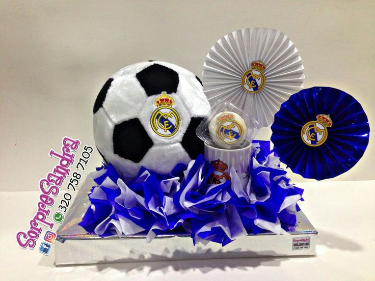 Anchetas,real Madrid,dulces,Cupcake,cumpleaños,detalles,tienda de regalos