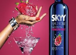 Wódka, Skyy, Ręka, Owoc, Kieliszek