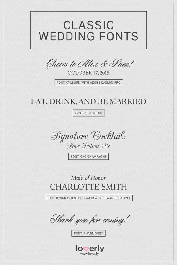 Wedding 101 Wedding Planning Advice Wedding Tips Wedding Invitation Fonts Wedding Fonts Wedding Classic