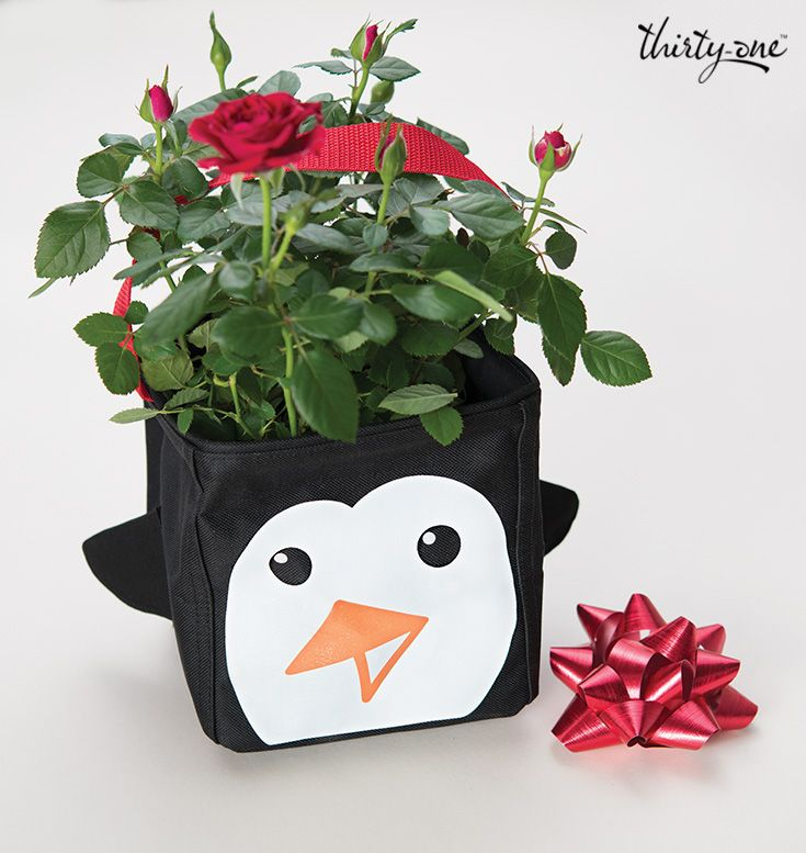 For anyone special - a seasonal floral arrangement in a too-cute Icon Littles Carry-All Caddy