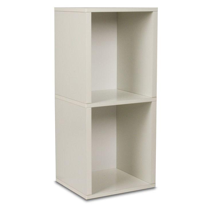Way Basics Narrow 2 Shelf Bookcase and Shelving, White (